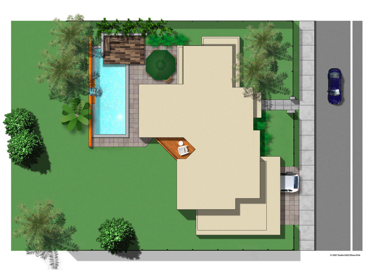 Site plan studio 0202 House plan view